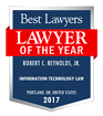 Robert Reynolds-recognized  as Best Lawyer and Best Law firm as an innovator in 2017